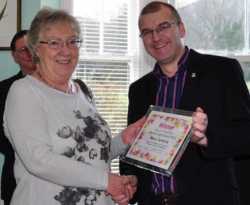 david watson and karen sutton presented the Beacon Dentalcare shining light award