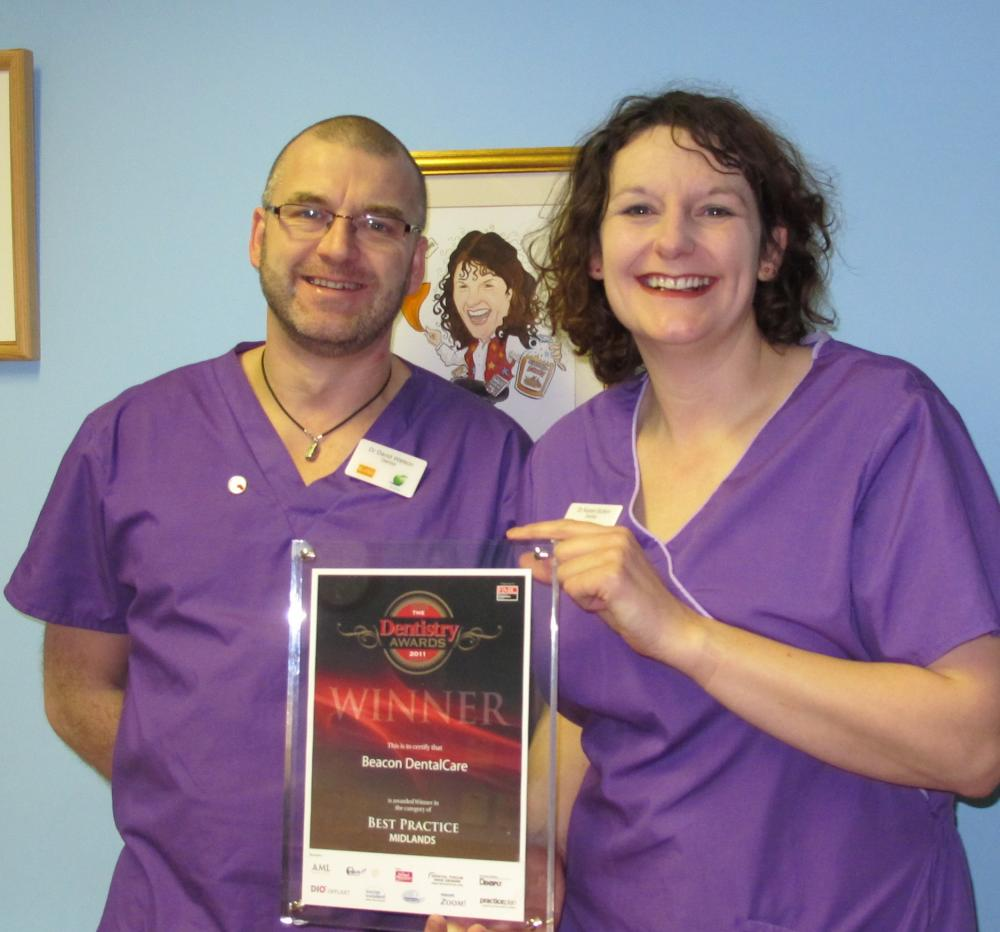 award winning beacon dentalCare dentists Karen sutton and David Watson