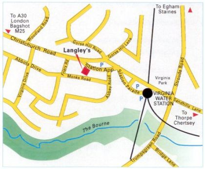 Map for Langleys Dental Practice
